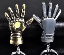 unique keychains for men 2019 - Hot!10pcs New Super Hero Iron Man Hand Shape Charms Keychains Unique Fashion Jewelry Best Gift for Movie Cartoon Fans ch
