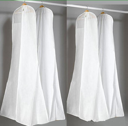 Grandi borse per abiti da sposa da 180 cm Borsa per la polvere bianca di alta qualità Coperchio per indumenti lunghi Coperchi antipolvere per viaggio Vendita calda in Offerta