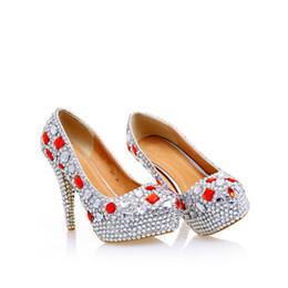 Discount Unique Silver High Heel Shoes   2017 Unique Silver High ...