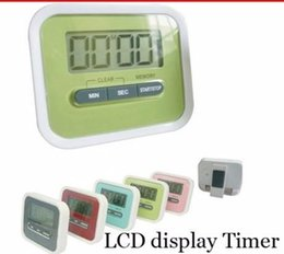 Wholesale 400pcs Hot Christmas Gift Digital Kitchen Count Down Up LCD display Timer clock Alarm with magnet stand clip