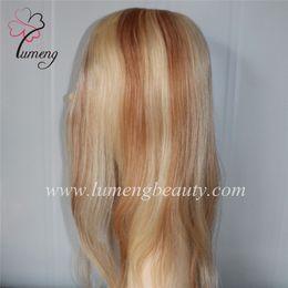 $enCountryForm.capitalKeyWord Canada - Top Quality Highlight Color full lace brazilian Human Hair Womens Toupee