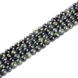 "bracelets 14mm UK - High quality natural stone new PEACOCK STONE round loose ball Beads 15"" Strand 4 6 8 10 12 14MM DIY Jewelry Making bracelet"