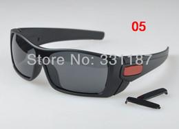 Vente en gros Hot Sale, Lunettes de soleil de marque cadre brun noir mat / Verres polarisés Authentique lunettes de soleil hommes Populaires Lunettes OUTDOOR SPORT GOOGEL 8 Couleurs