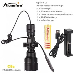 $enCountryForm.capitalKeyWord Canada - C8 Tactical Gun Flashlight Torch 2200LM CREE XM-L2 LED 5 Modes LED Flash Light Lanterna+gun scope bases Mount+remote switch
