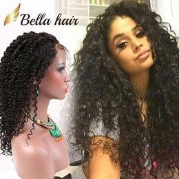 Discount big curly human hair weave - Brazilian Lace Front Wigs Virgin Human Hair Lace Wigs for Black Women 360 Lace Wigs Curly Hair Weaves Bellahair Density