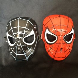 Costume De Super-héros Pvc Pas Cher-Marvel Superhero Costume Spiderman Mask For Party Mardi Gras Costume Prop Christmas Holloween Ball Taille unique pour la plupart