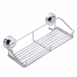 $enCountryForm.capitalKeyWord UK - Stainless steel shelving Suction Shower Basket Dual Sucker Bathroom Shelf Washing Room Kitchen Corner Basket Wall Mounted Rack