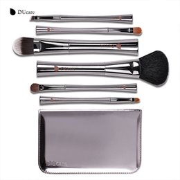 Hair syntHetic pony online shopping - Ducare Makeup Brush Luxury Set Pony Hair Goat Hair Super Soft Make Up Tools Kit Make Up Brush Set with Box