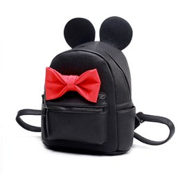 Chinese  Wholesale- VOJUAN 2017 Fashion Female Small Backpack Cute Ears Mini Backpack High Quality pu Leather Women Backpacks sac a dos femme manufacturers
