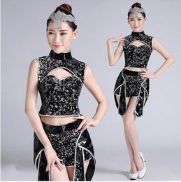 $enCountryForm.capitalKeyWord Canada - New adult Jazz tail coat dance costume fashion sequins clothing modern dance performance stage wear singer tide cool costumes