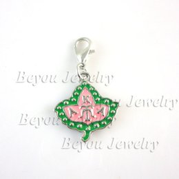 $enCountryForm.capitalKeyWord Australia - Fashion Jewelry Charms Free shipping wholse sell Greek Sorority AKA Ivy dangle Charm aka enamel charm