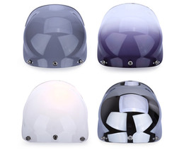 Full Face shield online shopping - Screws System Fits Most Of Open Face With Half Face Helmets Pin Buckle Modular Face Shield Visor Lens For Motorcycle Helm