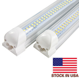 Discount integrated 4ft tube - 4ft T8 Led Tubes Light 30W Integrated Double Row smd2835 1200mm Led Fluorescent Lights Tubes AC 110-240V CE UL