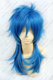 Barato Assassinato Dramático Aoba-Venda por atacado grátis 292 Dramatical Murder DMMd AOBA Long Blue Mix Cosplay Wig