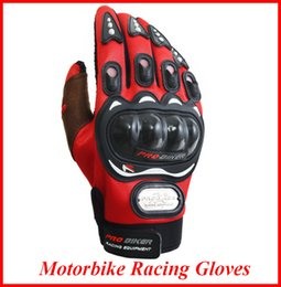 Wholesale Motorcyle Racing Gloves Motorbike Men New Racing Bike Bicycle MTB Cycling Full Finger Protective Gloves Black Red Blue OUT058