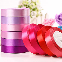 $enCountryForm.capitalKeyWord Canada - 5pcs 25yards 25mm Silk Satin Ribbon for Wedding Party Decoration Dress Invitation Card Gift Wrapping Scrap booking Supplies Riband