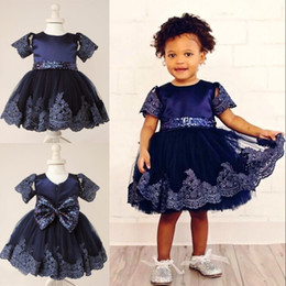 red green christmas outfits 2019 - Sequins Tulle Flower Girl Dresses With Lace Applique Cheap Baby Girl Wedding Party Dress Lovely Birthday Outfit Dress Fi