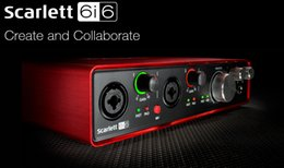 New Focusrite Scarlett 6i6II 6 In 6 Out USB 2.0 Audio Interface With Two Focusrite Mic Preamps professional sound card for recording on Sale