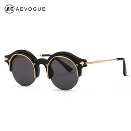 32cea72d36 Wholesale-AEVOGUE Sunglasses Women Newest Steampunk Original Brand Designer Copper  Frame Sun Glasses Classic Shades With Box UV400 AE0395