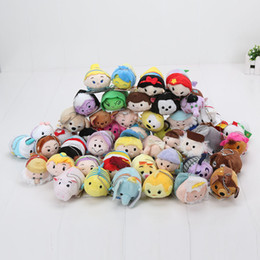 Discount doll cats - IN STOCK 1000pcs Tsum Tsum Plush Toys Cheshire Cat pig princess Pendant Doll Phone Mobile Clean Protect