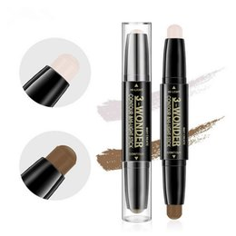 Barato Clareamento De Vara-Highlighter de dupla ponta e Shimmer Stick Concealer Face Makeup Whitening Concealer Brightening Water-proof Double Head 2 cores