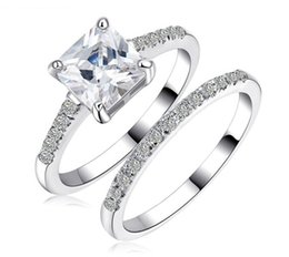 $enCountryForm.capitalKeyWord Canada - Fine Jewelry Brand princess cut jewelry 10kt white gold filled topaz simulated diamond women Wedding Ring set gift with box