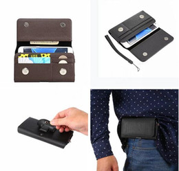 """$enCountryForm.capitalKeyWord NZ - 4.0"""" 6.3"""" Universal Clip belt Holster Hasp Leather Case For iPhone 7 6 6S Plus 5S Samsung Galaxy S8 S6 S7 Edge S5 Note 5 3 4 Card Bag 50pcs"""