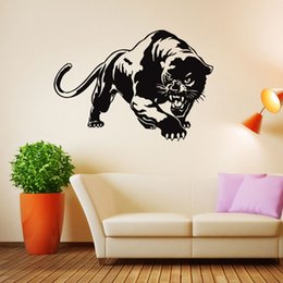 diy nature home decor mural UK - New Creative Leopard Vinyl Wall Stickers Animal Home Decor Living Room Removable Diy Art Mural Decals DIY
