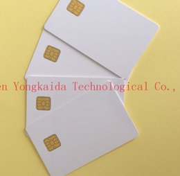 Discount blank smart cards - Wholesale- 2000PCS lot SLE4428 1K PVC Blank Contact Smart Card