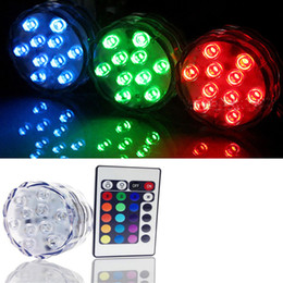Waterproof Remote Control Light Switch Australia - 10 SMD5050 LED Multi Color Submersible Waterproof Wedding Party Vase Base Light With 24 Keys Remote Control For Hookah Shisha