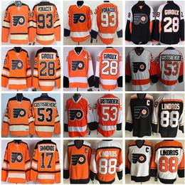 1f8c12b06d6 ... Philadelphia Flyers premier hockey jersey 53 Shayne Gostisbehere 93  Jakub Voracek 16 Bobby Clarke throwback retro ...