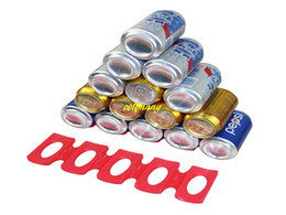 Kitchen Cushions NZ - 50pcs lot Fast shipping Silicone Refrigerator Wine rack Mat beer cans mat Wine holder Pop top cushion cola storage racks