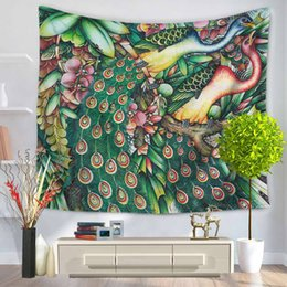 Peacock Pattern Tapestry Wall Hanging Tapestry Bedspread Beach Towel Yoga  Mat Table Cloth Camping Picnic Cloth Home Decor Art