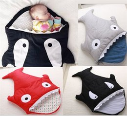 Poussette Enfant Mignonne Pas Cher-Cute Soft Winter Cotton poussette pour bébés Sac de couchage pour bébés Sharks Newborns Literie Swaddle Couverture housses sleepingacks chaud