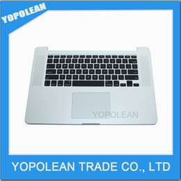 """Discount topcase keyboard - New For Macbook Pro Retina 15"""" A1398 Late 2013 2014 ME293 ME294 Top Case Topcase Palmrest with US keyboard Trackpad"""