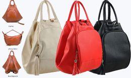 $enCountryForm.capitalKeyWord NZ - Multiway Women backpack PU Leather Multifunctional Handbag Lady Travel shoulder bag