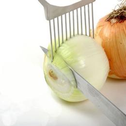 Ingrosso Il più nuovo !!! Utensili da cucina Gadget da cucina in acciaio inox affettatrice cipolla pomodoro titolare taglierina cucina regalo