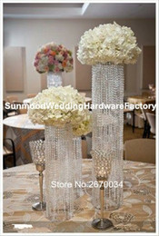 flower pot sizes Canada - small size )Wholesale trumpet vase for wedding decoration acrylic crystal flower pot
