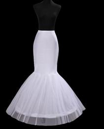 Ingrosso 2017 New Mermaid / Tromba Sottogonne Bianco 1-Hoop Crinolina Bridal Underskirt Spedizione gratuita Vendita Calda Accessori Da Sposa