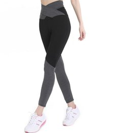 $enCountryForm.capitalKeyWord Canada - Best gift New high waist straps bow tie color foot exercise fitness yoga leggings LW044 Women's Leggings