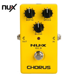 Wholesale NUX CH Protable Guitar Simulation Chorus Effect Device Guitar Effect Pedal Guitar Great Booster Yellow