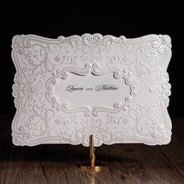 Discount White Elegant Wedding Invitation Designs 2017 White