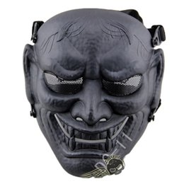 Airsoft fields online shopping - DC Buddha prajna Full Face Airsoft Paintball Maske halloween Party CS Wargame Field spiel Cosplay Film Prop