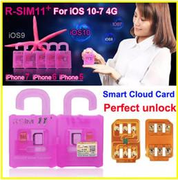 Entrega rápida DHL R-SIM11 + perfeito desbloquear IOS10 -IOS7 Rsim 11 Plus Rsim 11 + desbloquear o cartão SIM iphone 7 7p 6plus 6s 5s suporte LTE 4G 3G spri em Promoção