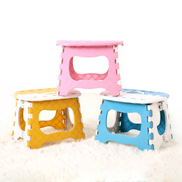 wholesale retail New Easy Foldable Step Stool chair With Non-Slip Grip Dots For C&ing Fishing Kids Folding Seat Home Basics Bench Ladder  sc 1 st  DHgate.com & Plastic Folding Stool Online | Plastic Folding Stool for Sale islam-shia.org