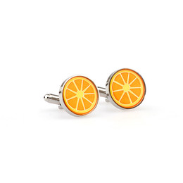 Christmas Gift Nails Australia - Funny Round Orange Slice Fruit Design Cufflink Sleeve Nail Silvery Glass Cuff Links For Men Wedding Shirt Dress Christmas Party Gift