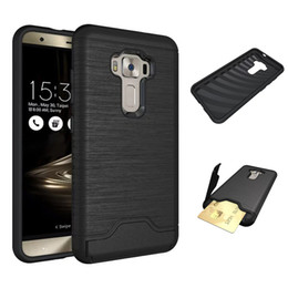 Hard case cover for asus online shopping - Hard Armor Case for Asus ZenFone ZE552KL Hybrid Shockproof Drop Protection Impact Protective Cover with Card Slots and Kickstand