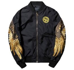$enCountryForm.capitalKeyWord UK - MA1 pilot flight Bomber jacket Korean Youth Clothes embroidery gold wings pure Outerwear for Men Women Spring baseball Coat