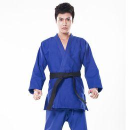 Venta al por mayor de 2016 100% Algodón Hombres Judo Jiu Jitsu Gi Grueso Conjunto Uniforme Ropa Ropa wushu Kung Fu kits Slub Telas Adultos Niños Niños