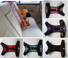 Free Car Media Canada - PET Supply Dog Accessories Dog Car Harnesses Leashes suit Mesh Cloth Harness Nylon Leash with the adjustable Ring wholesale free shipping